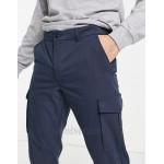 Jack & Jones Intelligence clean smart slim cargo pants in navy