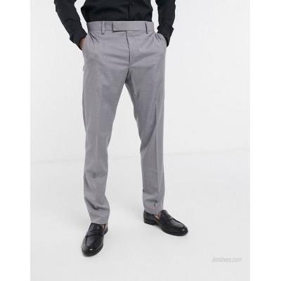 DESIGN slim smart pants in gray