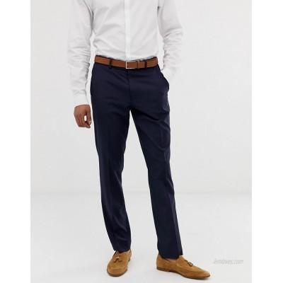 DESIGN slim smart pants in navy