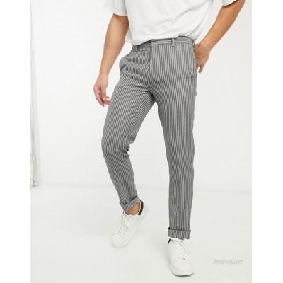 River Island skinny smart pants in stripe