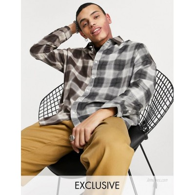 COLLUSION oversized shirt in spliced check