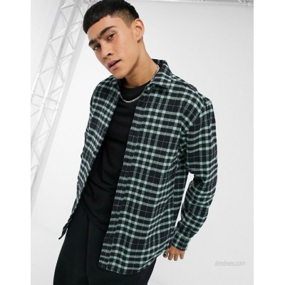 Pull&Bear checked shirt in mint