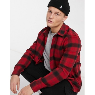River Island shirt in red shadow check