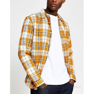 River Island shirt in yellow check