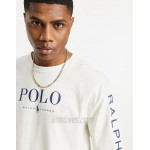 Polo Ralph Lauren x exclusive collab long sleeve t-shirt in cream with chest and arm logo