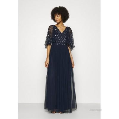 Maya Deluxe CAPE BACK EMBELLISHED MAXI DRESS Occasion wear navy/dark blue