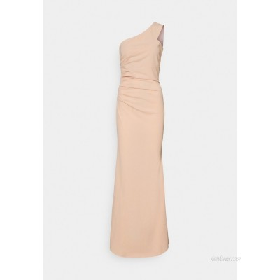 WAL G TALL ONE SHOULDER RUCHED MAXI DRESS Occasion wear salomon/pink/salmon
