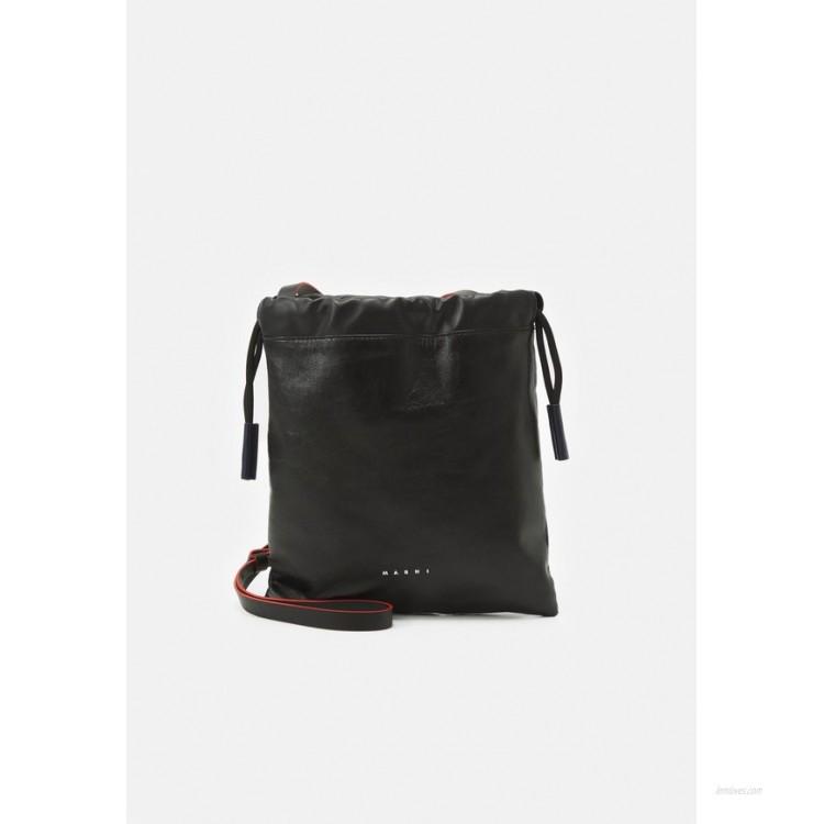 Marni MUSEO SOFT DRAWSTRING - Across body bag - black/navy blue/black