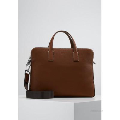 BOSS CROSSTOWN  ZIPS - Briefcase - light pastel brown/brown