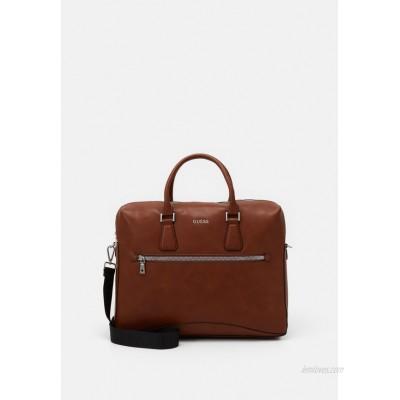 Guess SCALA BRIEFCASE UNISEX - Briefcase - brown