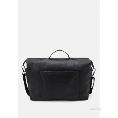 Zign LEATHER UNISEX - Weekend bag - black