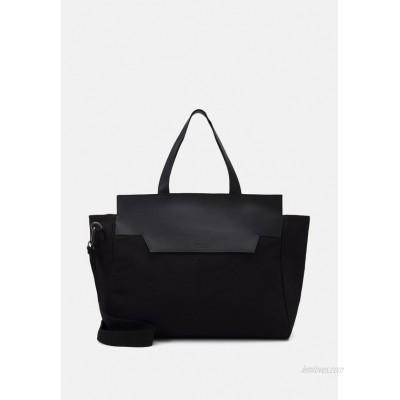 Zign UNISEX LEATHER - Weekend bag - black