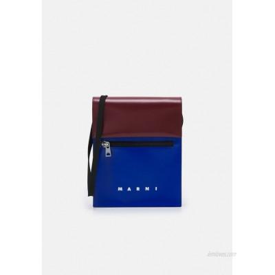 Marni TRIBECA POUCH UNISEX - Across body bag - royal/burgundy/blue