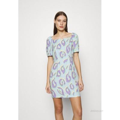 Closet SQUARE NECK MINI DRESS Shift dress aqua/light blue