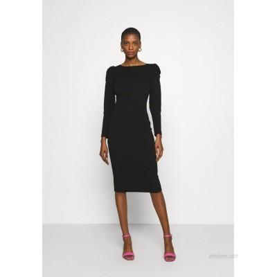 Dorothy Perkins RUCHED SLEEVE BODYCON DRESS Shift dress black