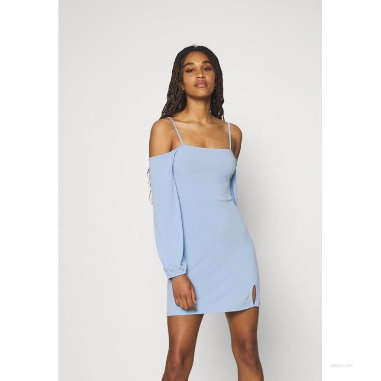 NAKD PAMELA REIF OFF SHOULDER MINI DRESS Jersey dress dusty blue/light blue