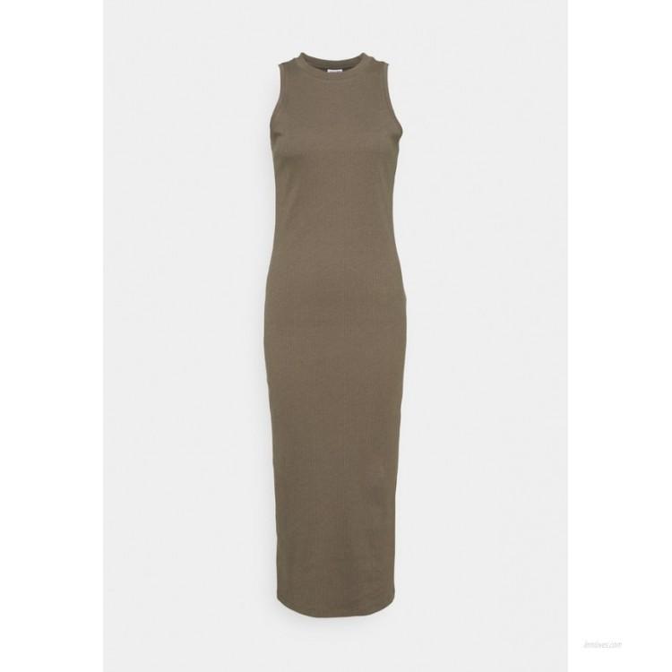 Vero Moda Tall VMLAVENDER CALF DRESS Jersey dress bungee cord/brown