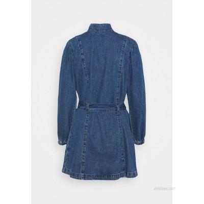 Glamorous Petite LADIES DRESS Denim dress dark stonewash/dark blue