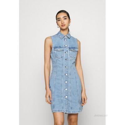 JDY JDYSANNA LIFE BUTTON DRESS Denim dress light blue denim/lightblue denim