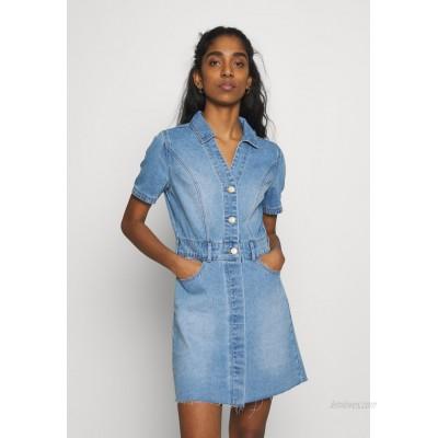 Noisy May NMLISA DRESS Denim dress light blue denim/lightblue denim