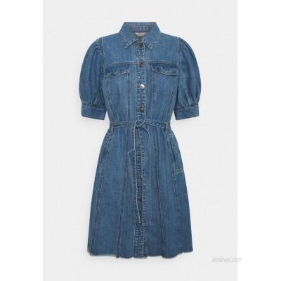 ONLY ONLGERDA BELT DRESS Denim dress dark blue denim/darkblue denim
