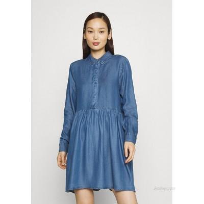 Vero Moda VMLIBBIE SHIRT DRESS Denim dress medium blue denim/blue denim