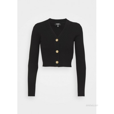 Missguided Petite HORN BUTTON CROPPED Cardigan black